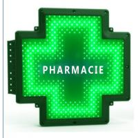 Quality Pure Green LED Cross Sign Farmacia Lamp 110V-220V Double Sides Waterproof Display for sale