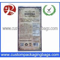 China Customized Printing Reusable Plastic Food Packaging Bags / Microwave Popcorn Bag on sale