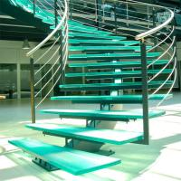 Quality Mono Stringer Stairs / Single Stringer Metal Staircase Prefabricated for sale