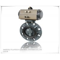 Quality General DN50 PVC Pneumatic Butterfly Valve Wafer Connection With 8 Mounting Holes for sale