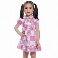 China Girls'/Kids' Fashionable Cotton Dress, Pictures/Children Clothing for 1 to 8-year Old, Customizable on sale