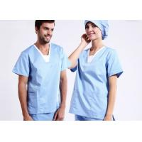 Quality Anti Chlorine Medical Healthcare Scrubs Uniforms With Two Front Patch Pockets for sale
