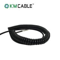Quality Spiral 7 Core Trailer Cable 24V S Plug Coiled Assemblies High Flexibility for sale