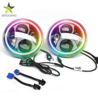 China IP67 RGB 7 Led Headlight 12V / 24V Angel Eyes Auto Led Lighting System on sale