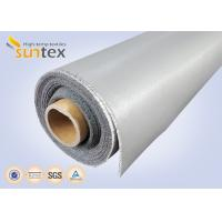 Quality 0.3 Mm Thick Blue And Black Color Silicone Fiberglass Cloth Safety Curtain Fabric for sale
