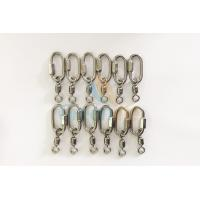 Quality Stainless Steel Oval Lanyard Accessories Fast Connection Ring M4 With Super Swivel Load 500KG for sale