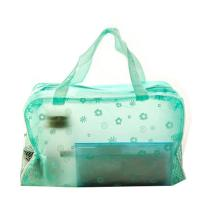 China Matt Imprinted PVC Transparent Makeup Bag  Eco Friendly Cosmetic Tote Bag on sale