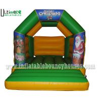Quality Kids / Adults Custom Christmas Inflatable Bouncy Castle With Roof 3 Years Warranty for sale