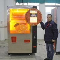 China Commercial Auto Fresh Orange Juice Vending Machine Credit Card / Coins And Notes Acceptors on sale