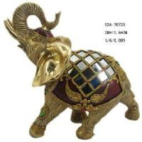 Quality Home Decoration Polyresin Elephant Figurine (D24-70720) for sale