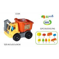Quality 32Pcs Toddlers Baby Building Blocks With 19  Excavator Truck Non - toxic for sale
