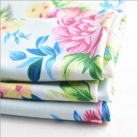 Buy Rusha Textile OE Spinning 30s Rayon Viscose Polyester Spandex Hawaiian Print Fabric 45% Polyester+50% Rayon+5% Spandex at wholesale prices