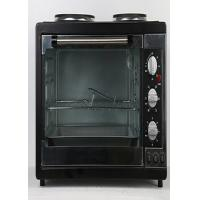 Quality Aluminum Rotisserie Electric Oven Mechanical Timer Control With Two Hot Plate for sale