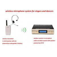 China headset wireless microphone system for singer dancers in KARAOKE on sale