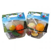 Quality OPP Plastic Fresh Fruit Bags Transparent Plastic Package Zipper Containers PET for sale