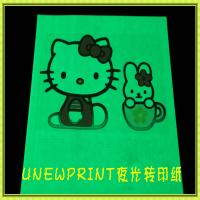 Quality A4 fluorescent luminious inkjet glow in the darkness  heat transfer paper for sale