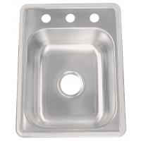 Quality Handmade Single Bowl Stainless Steel Kitchen Sink Brushed Surface Treatment for sale