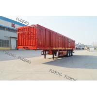 Tri-axle 50-60ton strong box utility trailers,van semi trailer with open type optional