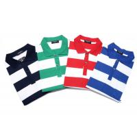 Quality Fashionable Style Casual Work Uniforms , Classic Mens Polo Shirts With Yarn Dyed Stripe for sale
