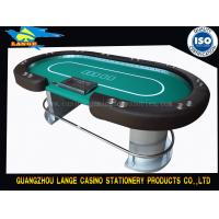 China Full Cover Table Cloth 10 Player Texas Holdem Table Luxury LED Light Poker Table wholesale
