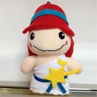 Quality Suffed Plush Toys Dolls Fashion doll with red hat doll with star for sale
