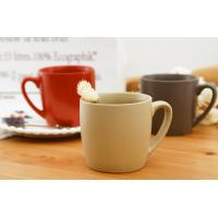 Quality Classical Ceramic Mugs Round Red Chinese Coffee Eco Friendly Microwave for sale