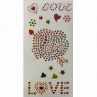 Quality Rhinestone and Glitter Sticker, Decorate Apple iPod, Cell Phone for sale