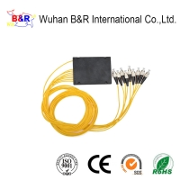 Quality Outdoor 1x8 ABS PLC Splitter With FC Connector for sale