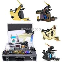 Quality NEW TATTOO KIT 4 GUN MACHINE COMPLETE POWER NEEDLE TIPS CD INK CUP for sale