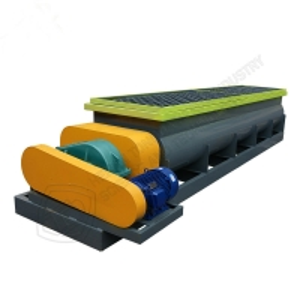 Quality Continuous cycle work horizontal organic fertilizer mixer/ Double shafts horizontal mixer for sale