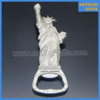 China High quality mold free matt silver metal Statue of Liberty New York beer bottle opener on sale