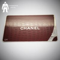Credit Logo Printing Metal Mirror Business Card Etch Engrave Crafted Rectangle