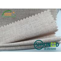 Quality Chest Canvas Horse Hair Interlining With Good Elasticity Woven Technology for sale