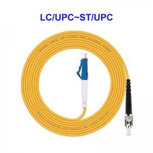 Quality LC UPC ST UPC Fiber Optic Jumper Cables , Single Core Fiber Optic Lan Cable for sale