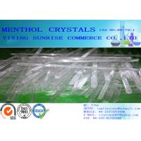 Buy White Menthol Crystals CAS 89-78-1 C10H20O For Toothpaste / Perfume / Medical at wholesale prices