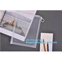 Quality Custom transparent pp slider bag with air hole, writable zip lock bags with white panel, slider bags with zipper lock for sale