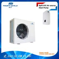 Quality Air To Water Split EVI Heat Pump For Underfloor Heating / Plate Heat Exchanger For Indoor Unit for sale