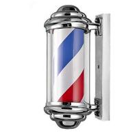 Quality Spinning Light Strip Revolving Barber Pole Extra Bulb Outdoor Salon Shop Old Timey for sale