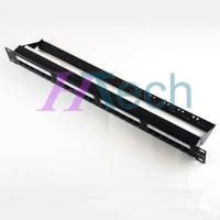 Quality UTP RJ45 24 Port CAT5E Patch Panel With Cable Manager for sale