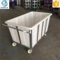 China 500litre commercial plastic laundry trolley carts with wheels for line on sale