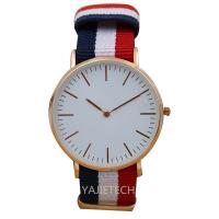 China YJ792 famous design nylon strap watch, hot sales ladies man watch on sale
