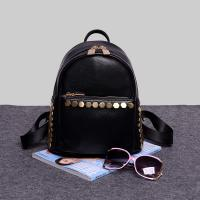 Quality High-Grade Pu Backpack Bags With Leather Rivet Lovely Mini Backpack for sale