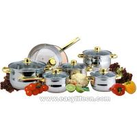 Quality 12PCS GLASS LID STAINLESS STEEL S/S 18/10  JUMBO COOKWARE SET,UTENSILIOS,PANELAS for sale