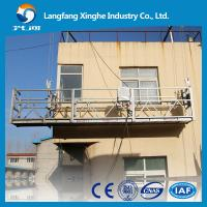China Aluminium alloy / Hot galvanized window cleaning platform / glass cleaning tools / window cleaning gondola on sale