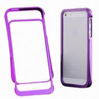 Quality Bumper Case for iPhone 5, Made of Aluminum with Good Touch Feeling and Available in Various Colors for sale