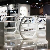 Quality Beautiful retail lady shoe shop design with customized size for sale