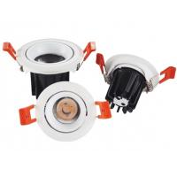 China Adjustable Frame Led Recessed Ceiling Spotlights White Housing 15°/24°/38° Beam Angle on sale