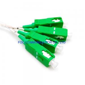 Quality Mini Tube Low PDL 1×4 PLC Splitter G.657A PVC SC APC Connectors for sale