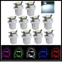 Quality T5 B8.5D 5050 1SMD LED Dashboard Panel Dash Wedge Side Light Bulb white purple blue for sale