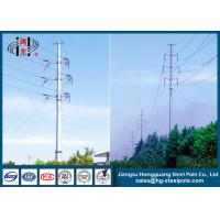 Quality 110KV Tubular Steel Transmission Poles Certificated High Strength for sale